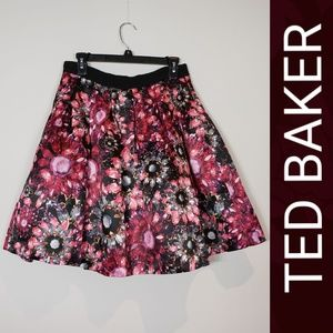Ted Baker London Crystal Gemstone Print Skirt